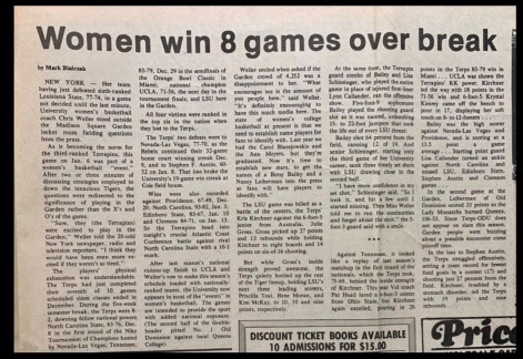 The women's basketball team was great.
