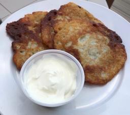 Potato pancakes for me.